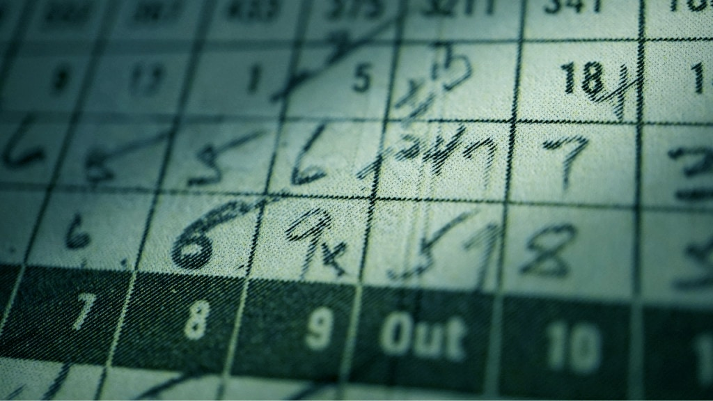 Golf Terms - Keeping Score